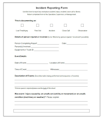 Microsoft Word Incident Report Template Magdalene Project Org