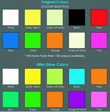 Superglow Photo Luminescent Glow In The Dark Colour Chart Buy Photo Luminescent Paint Product On Alibaba Com