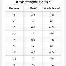 Women S Jordan Size Chart Jordan Flight Shoes Size 6y Womens 7 5