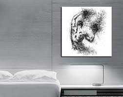 CANVAS ART Sensual Bedroom Art, Elegant Minimalist Abstract Canvas Print,  Modern Master Bedroom Wall