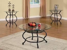 3pc metal coffee table set