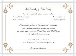 formato de invitaciones de boda textos para invitaciones de boda t cual prefieres lovely texto de