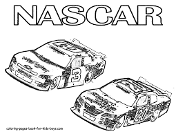 Nascar Coloring Pages To Print Coloring