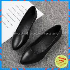 Mã FASHIOND10 giảm 10K đơn 50K] Giày búp bê FREESHIP giày búp bê nữ da lỳ  cao cấp VNXK - Đế cao su đúc siêu êm tại Thái Bình