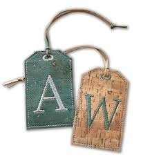 In The Hoop Luggage Tag Designs Great Guy Gift Create Classy Monogrammed Cork Luggage Tags