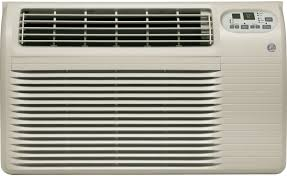 ge ajcq12dcf 12 000 btu thru the wall air conditioner with 9 8 eer r 410a refrigerant 3 4 pts hr dehumidification energy saver remote control and