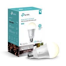 Walmart Alexa Light Bulbs Tp Link Lb100 A19 Smart Light Bulb 50w Dimmable White Led 1 Pack Walmart Com
