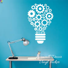 teamwork office wallpaper. Steampunk Gears And Cogs Geometric Bulb Machine Wall Sticker Classroom Office Kids Room Lamp Light Teamwork Wallpaper
