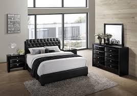 full size of bedroom glamorous bedroom furniture sets hardwood construction black leather upholstered platform bed