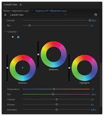 Pro Panel Ii Color Chart Color Grading Workflows In Adobe Premiere Pro Cc