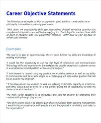 career objectives and goals career goal essay examples career  career objectives and goals sample career objective statement examples word cover letter example resume developing career objectives and goals