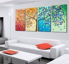 pretty colorful tree of life 4 pc painted canvas wall art 3 sizes floessence on canvas wall art tree of life with pretty colorful tree of life 4 pc painted canvas wall art 3 sizes