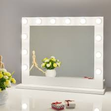 wall vanity mirror with lights