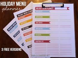 Simplify The Season Holiday Menu Planner 3 Free Printables