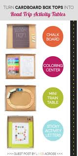 road trip activity tables for the kiddos