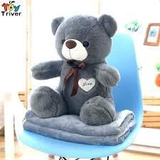 plush bear rug teddy portable blanket toy doll baby kids shower car travel floor kid baby bear rug