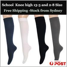 Premium Cotton Rip Knee High Socks - Plain (<b>No</b> seam) <b>Women</b> 2-8 ...