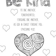 Human Heart Coloring Pages Pdf With Bible Verses To Color 1 03 7 And