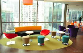 reception office design. Modern Office Design Colorful Reception