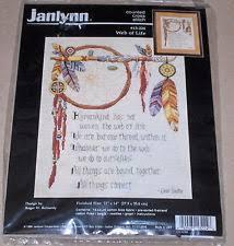 The Dream Catcher 1999 Janlynn Cross Stitch Kit Roger Reinardy Web of Life Dream Catcher 54