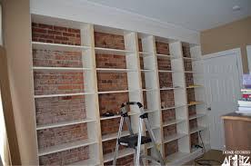 bookshelves ikea built-ins