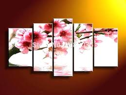 red cherry blossom wall art cherry blossoms wall art stupefying cherry blossom canvas wall art also red cherry blossom