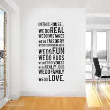 house rule wall quote decal decor sticker lettering saying wall art stickers decals kid wall stickers kids bedroom wall stickers from jeanwill  on house wall art with house rule wall quote decal decor sticker lettering saying wall art