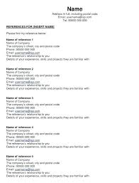 Reference Pages For Resume Employment Reference Page Resume Template Free Antonchan Co