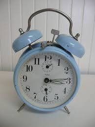 fresh alarm clock made in usa 1960 twin bell baby blue yugoslavium wind up oh if