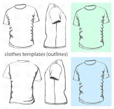 Clothes Template Simple T Shirt Design Template Vector Illustration Of Beauty