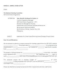 Grant Request Cover Letter Grant Application Cover Letter Sample