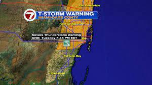 Severe Thunderstorm Warning has been ...