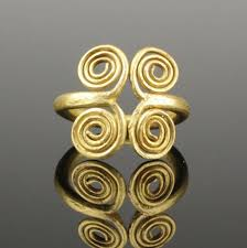 magnificent ancient viking gold ring circa 10th century ad viking jewelry meval