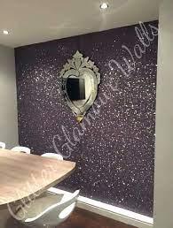glitter wallpaper on wall 725x960