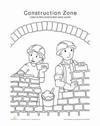 Small Picture Construction Worksheet Educationcom