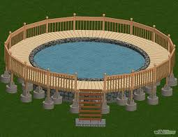 square above ground pool with deck. How To Build A Deck Around An Above Ground Pool Square With