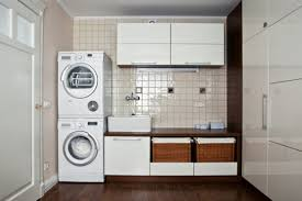 Interior:Modern Small Laundry Room Design With Side By Side Washer Also  Dryer Laundry Room