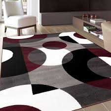 round area rugs target fine contemporary 5 7 red and white