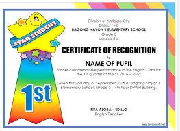 Samples Of Awards Certificates Orange Grey Laurel Academic Excellence Certificate School