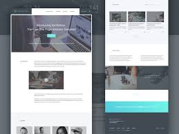 one page website template freebie synthetica one page website template html sketch
