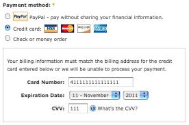 credit card payment in drupal s