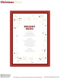 christmas free template free xmas menu templates free christmas menu template free free