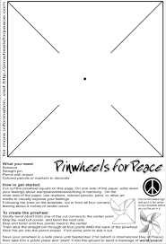 Directions Template To Create Your Own Pinwheel Follow These Directions To