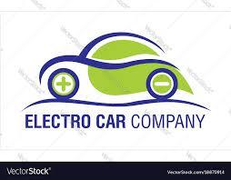 Eco Electric Car Company Logo Royalty Free Vector Image