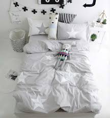grey star reversible bedding set can be personalised gray duvet cover