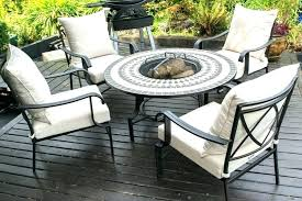 patio furniture with fire pit table ashleighgarwoodme round fire pit table and chairs fire pit table