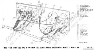 ford truck technical drawings and schematics section h wiring 1968 f 100 thru f 750 and b 500 thru f 750 instrument panel model 84