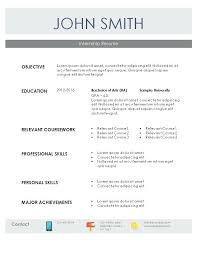 Internship Resume Templates Beauteous Resume Template For Internship Mysticskingdom