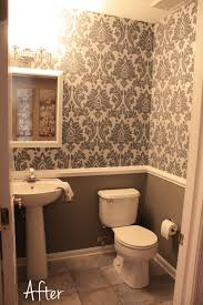 chair rail bathroom. Small Downstairs Bathroom - Like The Wallpaper And Chair Rail Idea Mostly  Gray With A Bit Of Pink T