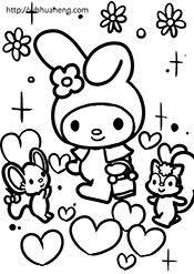 子供用手がきアニメ塗り絵ぬりえ無料ダウンロード
